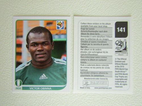 PANINI 2010 ~ Sud Africa Campionato mondiale di calcio ADESIVI 00-219 varianti Adesivo e25