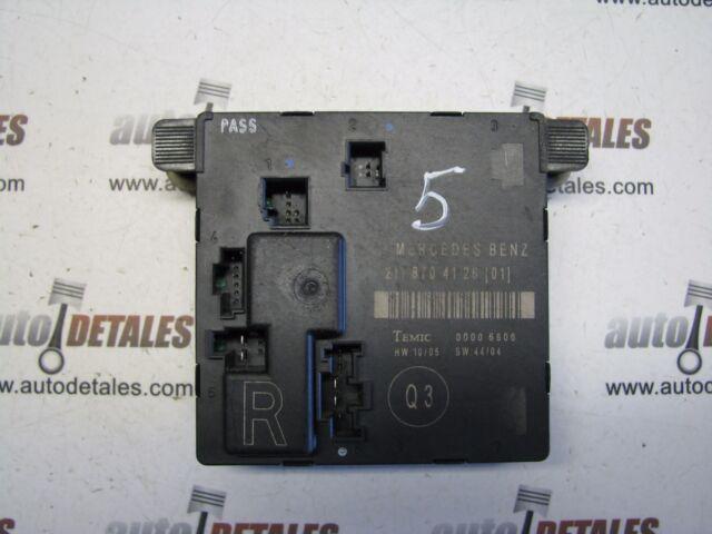 Mercedes E-Class W211 Rear Right Door Control Module RHD A2118704126 used 2007