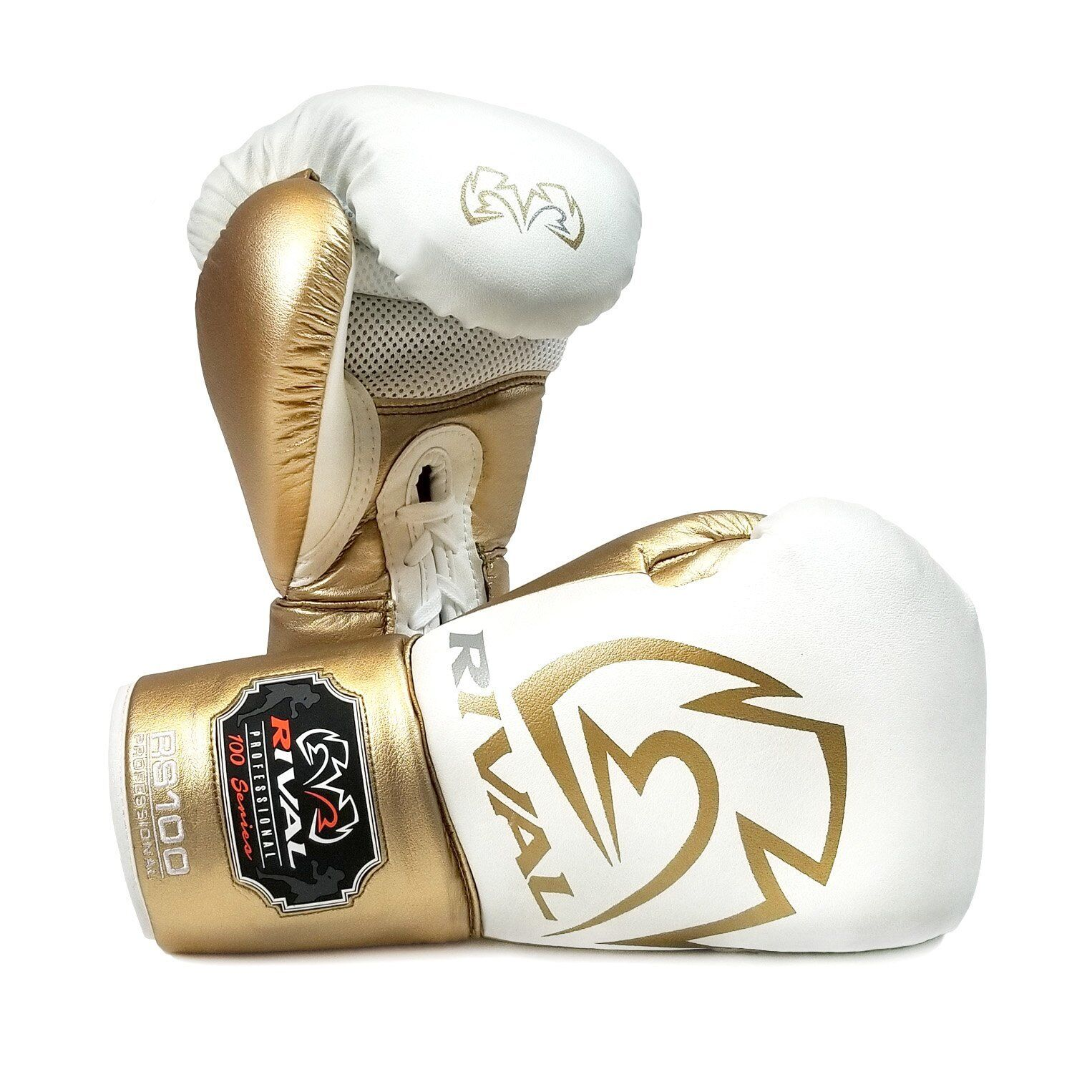 Rivale Boxhandschuhe RS100 Professional Sparring Training Workout Weiß Gold