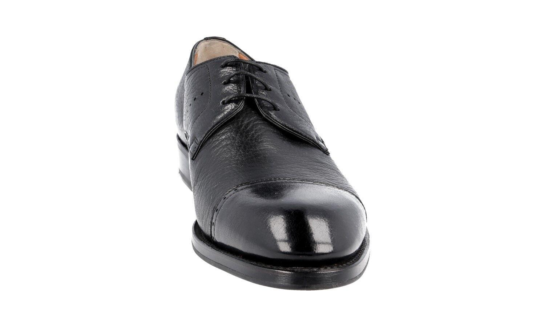 Luxe SANTONI Cap Toe Derby Chaussures 12622 Neuf Noir Neuf 12622 New 8,5 42,5 43 0904d9