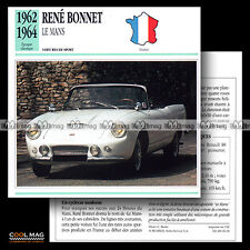 #066.06 RENE BONNET LE MANS (1962-1964) - Fiche Auto Classic Car card