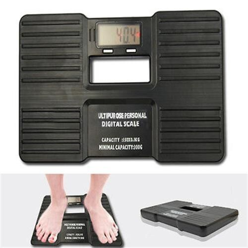 Portable Electronic Digital Personal Barthroom Body Weight Scale 150kg/10g Black