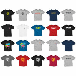 2020 Thor MX Youth Tee Shirts Motocross Short Sleeve Tee Pick Size//Color