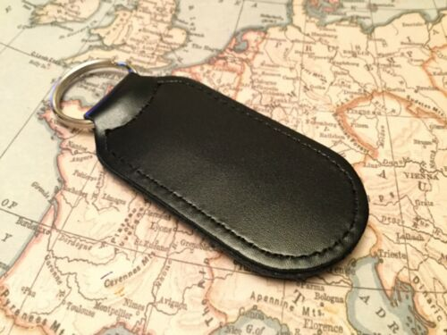 SEAT PRINTED Quality Black Real Leather Keyring FR