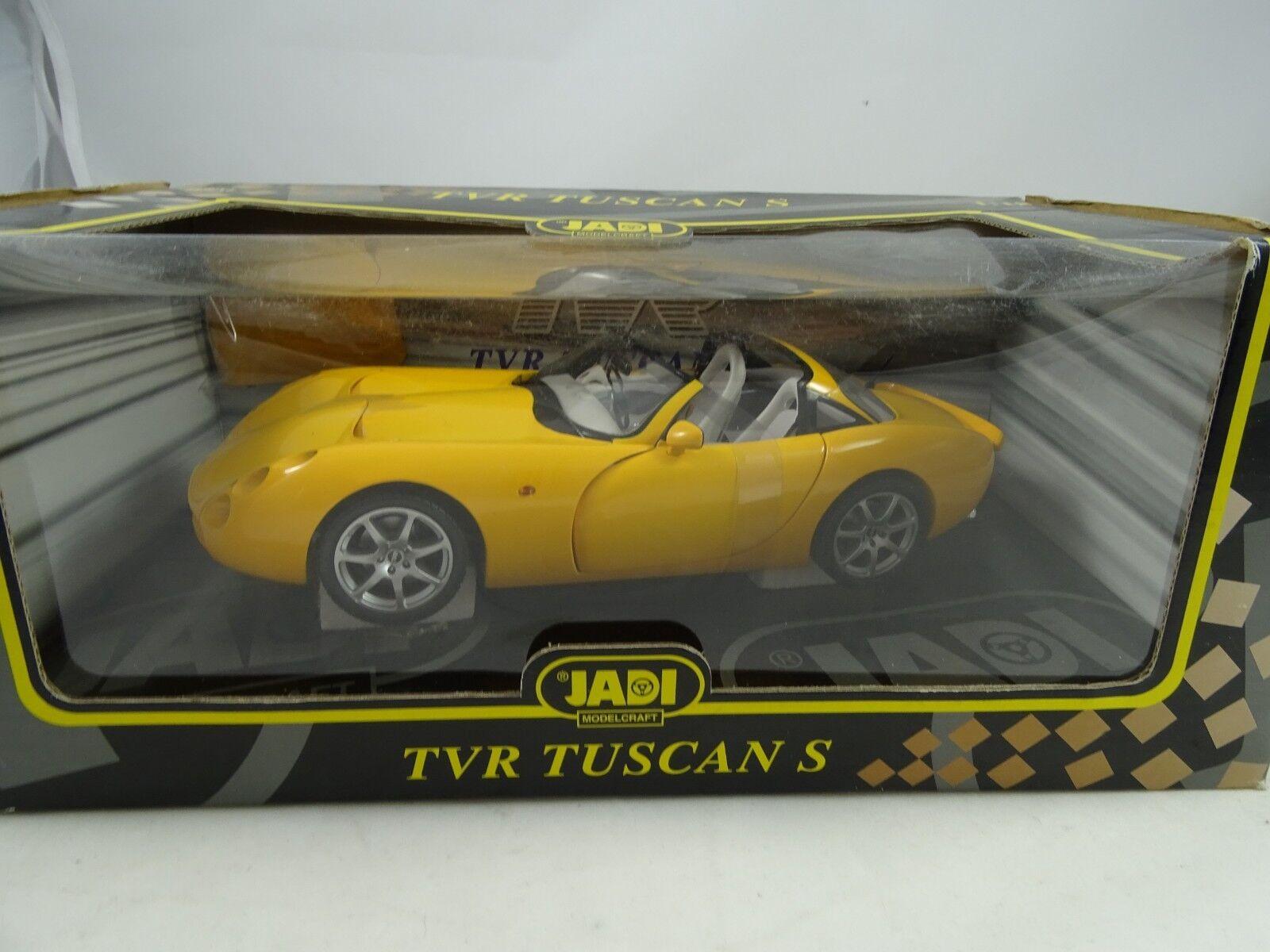 1 18 Jadi  jm98052 TVR Tuscan S SUNSET jaune-RARE NOUVEAU Neuf dans sa boîte