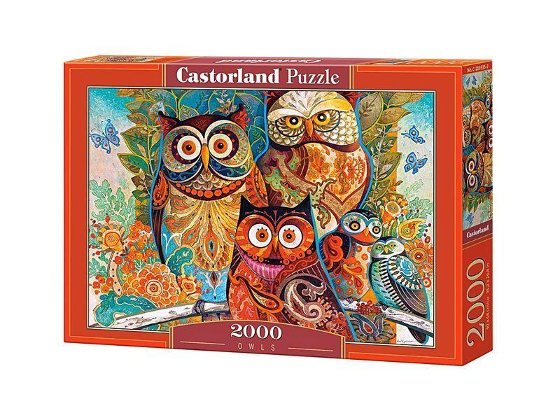 Castorland puzzle 2000 stcke - eulen - 92 x 68 cm 36 x 27  versiegelte kiste c-200535