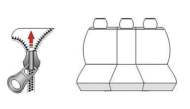 Set Completo Universal Ajuste cubiertas de asiento de coche Nissan Almera BL