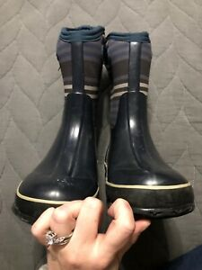 Bogs Kids Classic Navy Stripes Boots
