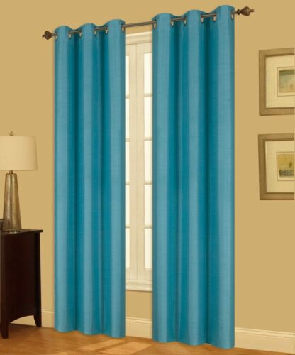 2 n32 turquoise latin insulated thermal privacy blackout window curtain panels home garden patterer window treatments hardware