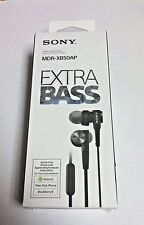 Sony MDR-XB50AP - Headphones Earbuds MDRXB50AP BLACK Extra Bass - NEW
