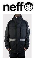 Neff Men's Warren Snowboard / Ski Jacket, Black, Many Sizes Brand