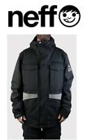 Neff Men's Warren Snowboard / Ski Jacket, Black, Many Sizes Brand