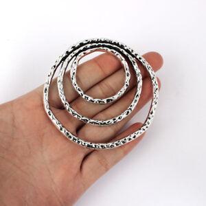5 x Tibetan Silver Large Open Hollow Irregular Ring Charms Pendants Findings
