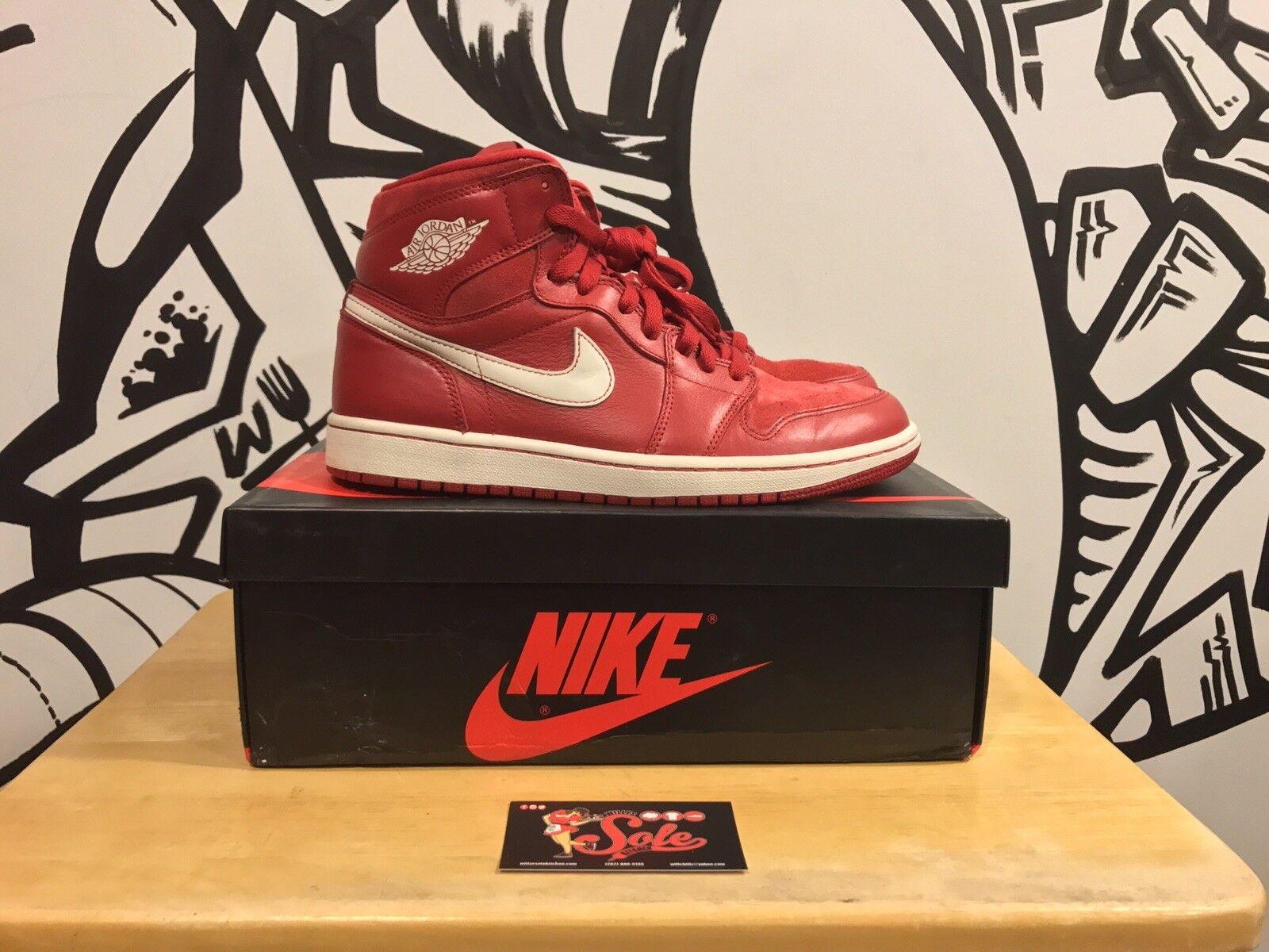 Air Jordan 1 Retro High OG  Euro Gym Red  Size 8 Men