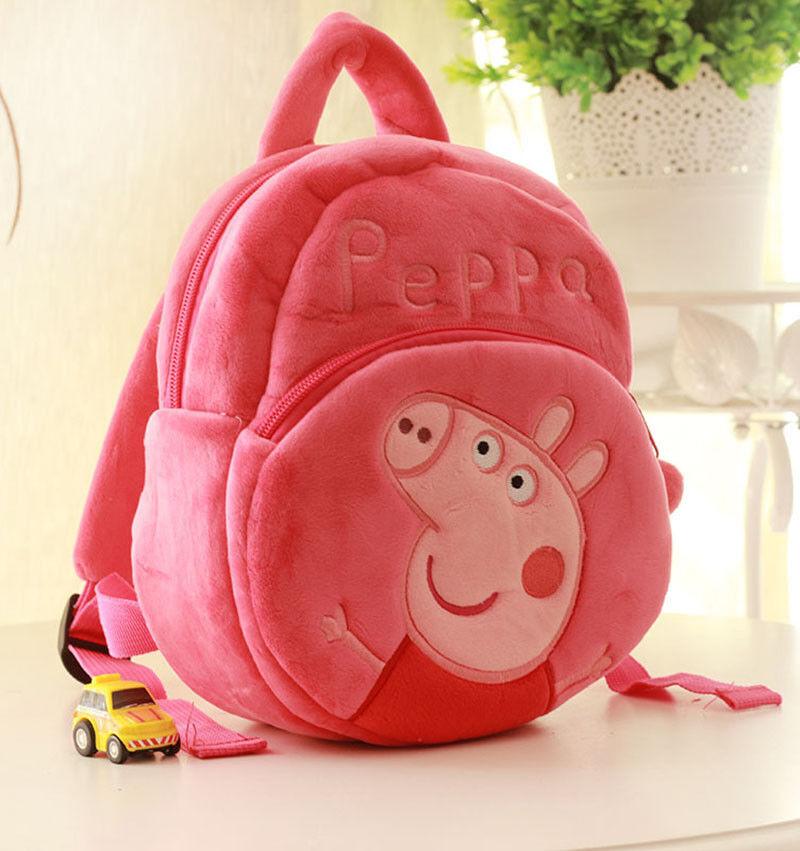 Neu Peppa Pig Plüschtiere Rucksack Kleinkind Schultasche Rucksack Herausnehmbare