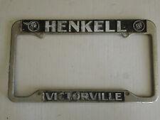 Victorville CA Henkell Pontiac Buick Metal Dealership License Plate Frame Holder