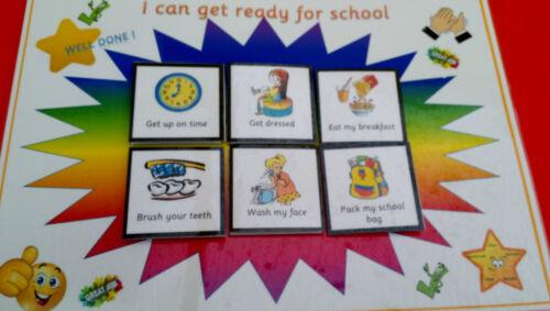 Posso prepararti per la scuola-routine Board pettorali a partire SCUOLA bisogni speciali