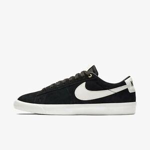 New-Nike-Men-039-s-SB-Blazer-Low-GT-Shoes-Sneakers-Black-White-704939-001