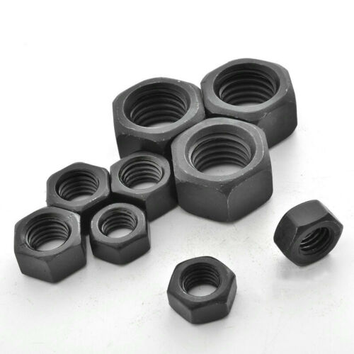 UNC American Standard Hex Nut Level 5 Carbon Steel Nuts Black Various Sizes