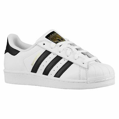 Bello Adidas Superstar Bianco Nero Ragazzi Ragazze Giovani Ginnastica-mostra Il Titolo Originale Facile Da Usare