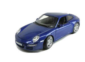 Porsche-911-Carrera-S-Azul-1-18-escala-Diecast-Car-Model-por-Maisto