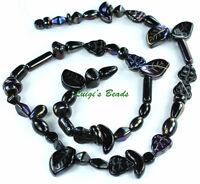 Czech Strung Pressed Glass Beads Mixes-twilight Mix