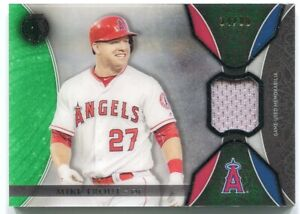 the latest 7dafb bb80d Details about Mike Trout 2017 Topps Tribute Game Used Jersey Relic Card #d  94/99 Angels TR-MT