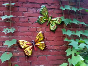 Details About Metal Butterfly Wall Hanging Wall Art Yard Outdoor Lawn Garden Decor 36 26cm