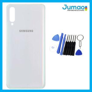 Vitre-arriere-capot-cache-batterie-Blanc-avec-Adhesif-Pour-Samsung-Galaxy-A70