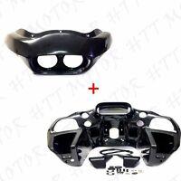 Us Stock Unpainted Inner & Outer Headlight Fairing For Harley Fltr Road Glide