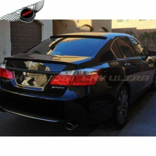 380Unpainted Combo Rear Roof OE Trunk Spoiler For Honda Accord Sedan 2013-16 ❖