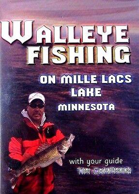 Walleye Fishing: Mille Lacs Lake Minnesota (New DVD 2004) Tim Chapman OOP!!