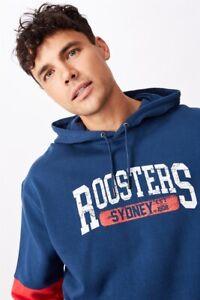NRL Mens Panel Hoodie L/Sleeve Tops  In  Roosters