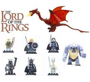 LEGO-MINIFIGURES-SIGNORE-DEGLI-ANELLI-LOTR-URUK-HAI-SMAUG-ARAGORN-CUSTOM-LIKE