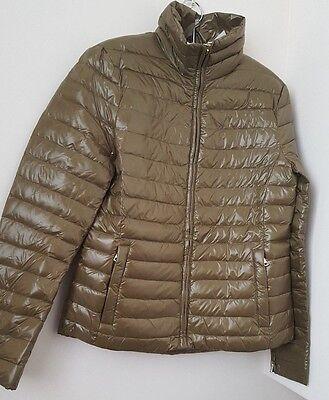 Zara New Light Khaki Water  Resistant Puffer Jacket Size XS S