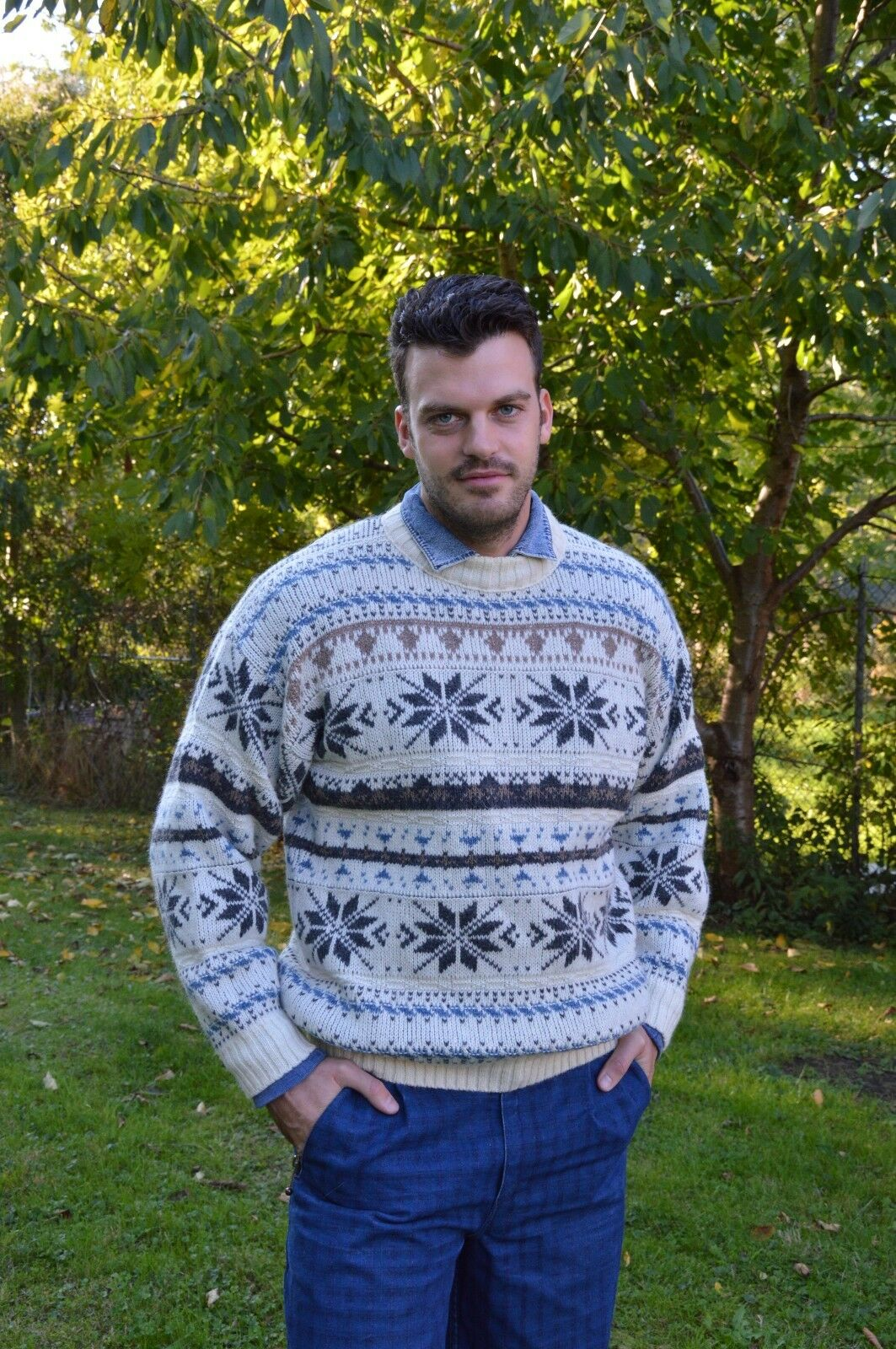 GOUT Couleur Izigane Winter Pullover Wolle sweater wool 90er True Vintage 90´s