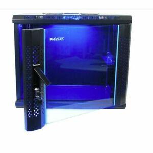 """Phasak PHP 2106 Armario Rack 19"""" MURAL 6U 600*450 Iluminación LED y Ventilaciòn"""