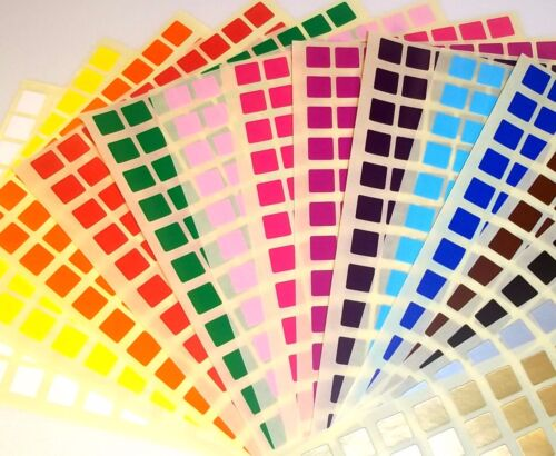 15 Colours 4 Sizes Blank Price Stickers Colour Code Dots Labels