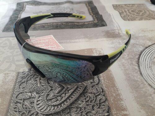 occhiali bici ciclismo DEMON FUEL montatura nero verde con lenti di ricambio