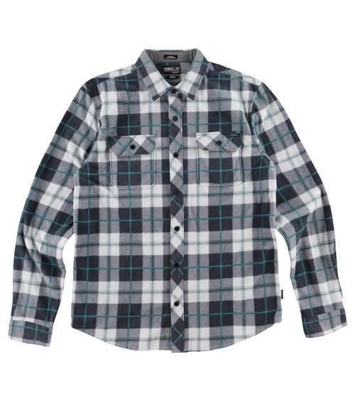 O'Neill Superfleece Plaid Flannel Shirt (M) Fog