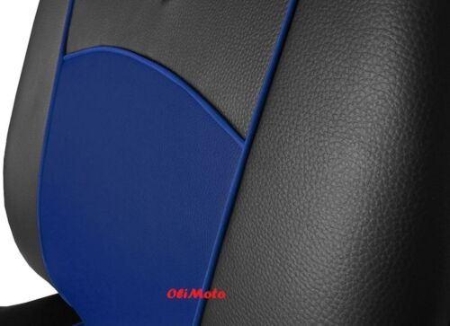 Universal Blue Black Eco-Leather Full Set Car Seat Covers Vauxhall Insignia