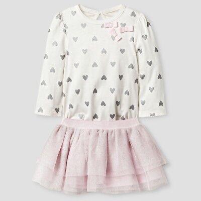 Baby Girls/' 2pc Bodysuit and Tutu Set Cat /& Jack Orange NB