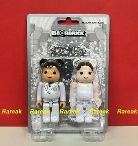 Medicom-Be-rbrick-2017-The-wedding-100-A-Groom-amp-Bride-2P-Bearbrick-set-2pcs