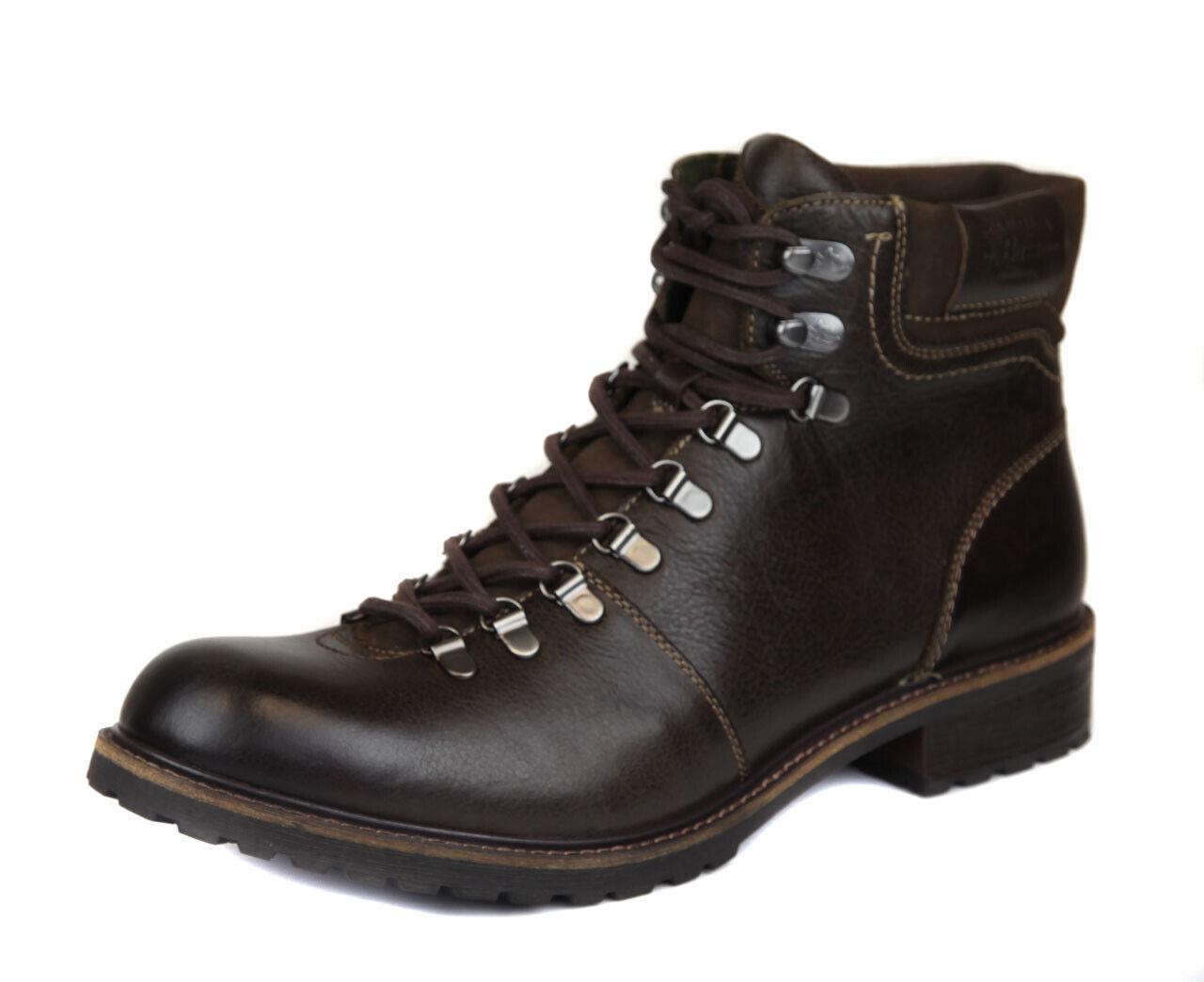 G. H. Bass & Co. Homme Marron Foncé Benoît bottes de cuir Chaussures Ret  170 NEUF