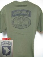101st Airborne T-shirt/ Combat Medic Badge T-shirt/ Army T-shirt/ New/ Medic