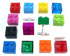 Cufflinks-Handmade-with-LEGO-bricks-Silver-Plated-gift-weddings-groom-best-man