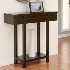 Alden Contemporary Style Cappuccino Finish Console Table