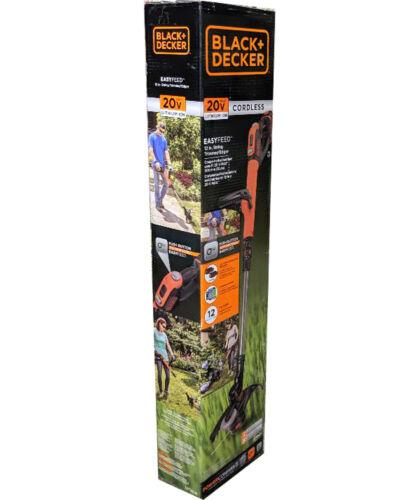 2 Batteries Black /& Decker 20V Easy Feed String Trimmer /& Edger
