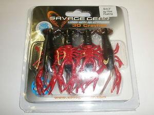 Savage-Gear-3d-cangrejo-de-Rio-Flotante-8cm-4g-Paquete-de-4