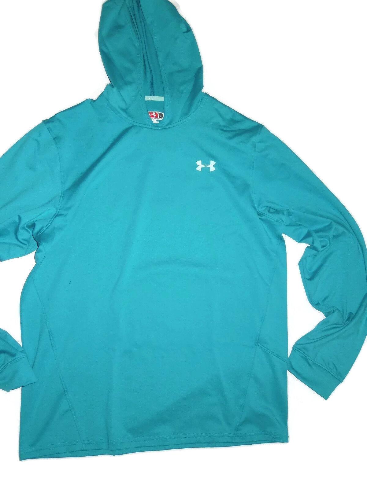 Under Armour mens Evo Cold Gear Mountain Blau Hoodie Shirt Größe LARGE retail 70